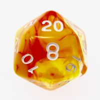 TDSO Cyclone Red & Yellow D20 Dice