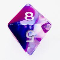 TDSO Cyclone Blue & Purple D8 Dice