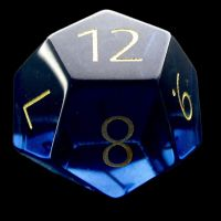 TDSO Zircon Glass Sapphire with Engraved Numbers 16mm Precious Gem D12 Dice