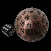 TDSO Metal Cannonball Antique Copper 55mm D100 Dice