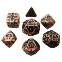 TDSO Metal Arcanist Antique Copper 7 Dice Polyset
