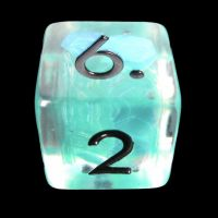 TDSO Teal Dragon Scale & Black D6 Dice
