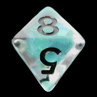 TDSO Teal Dragon Scale & Black D8 Dice