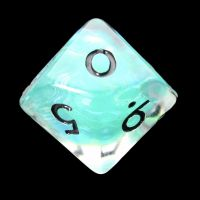 TDSO Teal Dragon Scale & Black D10 Dice