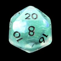 TDSO Teal Dragon Scale & Black D20 Dice