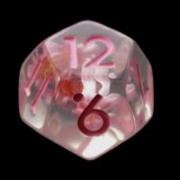 TDSO Encapsulated Flower Baby Pink D12 Dice