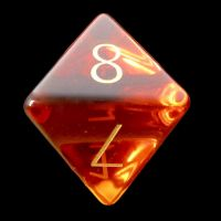 TDSO Zircon Glass Yellow Topaz with Engraved Numbers Precious Gem D8 Dice