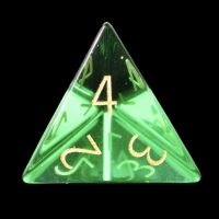 TDSO Zircon Glass Emerald with Engraved Numbers 16mm Precious Gem D4 Dice