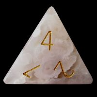 TDSO Agate Cherry with Engraved Numbers 16mm Precious Gem  D4 Dice