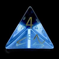TDSO Zircon Glass Sapphire with Engraved Numbers 16mm Precious Gem D4 Dice