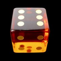 TDSO Zircon Glass Yellow Topaz with Engraved Numbers Precious Gem D6 Spot Dice