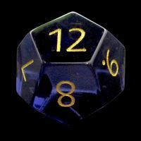 TDSO Zircon Glass Alexandrite with Engraved Numbers Precious Gem D12 Dice