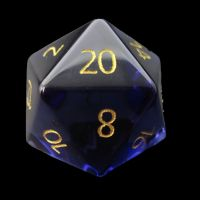 TDSO Zircon Glass Alexandrite with Engraved Numbers Precious Gem D20 Dice