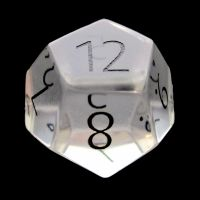 TDSO Zircon Glass Diamond with Engraved Numbers Precious Gem D12 Dice