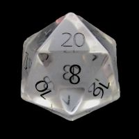 TDSO Zircon Glass Diamond with Engraved Numbers Precious Gem D20 Dice