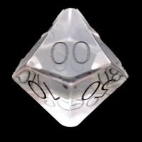 TDSO Zircon Glass Diamond with Engraved Numbers Precious Gem Percentile Dice