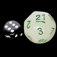 Tessellations Opaque Green JUMBO 27mm Numerically Balanced D30 Dice