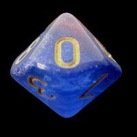 TDSO Multi Glitter Blue Orange & Purple D10 Dice