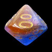 TDSO Multi Glitter Blue Orange & Purple Percentile Dice