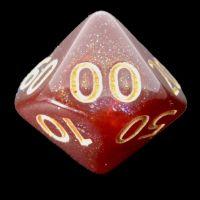 TDSO Multi Glitter Blue Red & Silver Percentile Dice