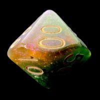 TDSO Multi Glitter Green Orange & Pink Percentile Dice
