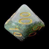 TDSO Multi Glitter Green Purple & Teal Percentile Dice