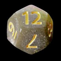 TDSO Multi Glitter Gold Green & Pink D12 Dice