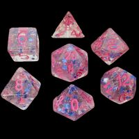 TDSO Confetti Superstar Blue & Pink 7 Dice Polyset