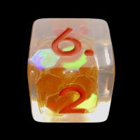 TDSO Gold Dragon Scale D6 Dice
