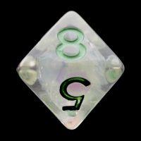 TDSO Silver Dragon Scale D8 Dice