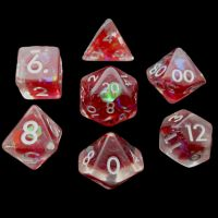 TDSO Red Dragon Scale 7 Dice Polyset