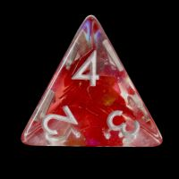 TDSO Red Dragon Scale D4 Dice