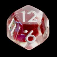 TDSO Red Dragon Scale D12 Dice