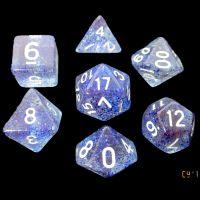 TDSO Glitter Dark Blue 7 Dice Polyset
