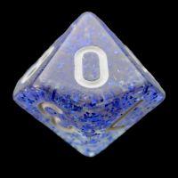 TDSO Glitter Dark Blue D10 Dice