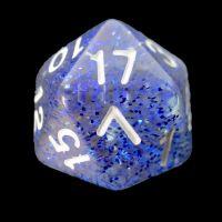 TDSO Glitter Dark Blue D20 Dice