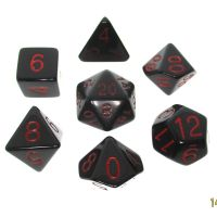 Role 4 Initiative Opaque Black & Red 7 Dice Polyset