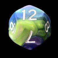 TDSO Quartet Blue Green Purple & Yellow D12 Dice