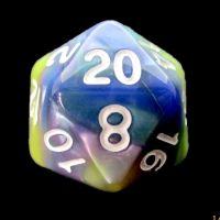 TDSO Quartet Blue Green Purple & Yellow D20 Dice
