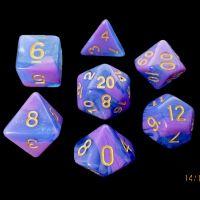 TDSO Aurora Lavender 7 Dice Polyset