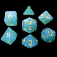 TDSO Moonstone Turquoise 7 Dice Polyset