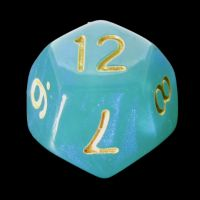 TDSO Moonstone Turquoise D12 Dice