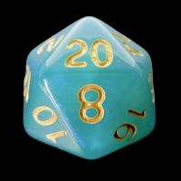 TDSO Moonstone Turquoise D20 Dice