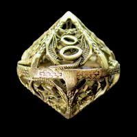 TDSO Metal Hollow Dragon Gold Percentile Dice