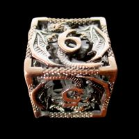 TDSO Metal Hollow Dragon Antique Copper D6 Dice