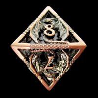 TDSO Metal Hollow Dragon Antique Copper D8 Dice
