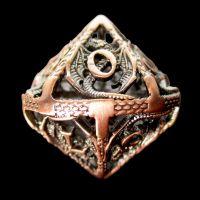 TDSO Metal Hollow Dragon Antique Copper D10 Dice