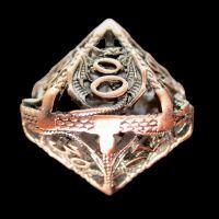 TDSO Metal Hollow Dragon Antique Copper Percentile Dice
