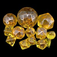 Opaque White Complete 13 Dice Set