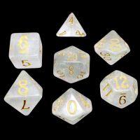 TDSO Shimmer Rose & Gold 7 Dice Polyset